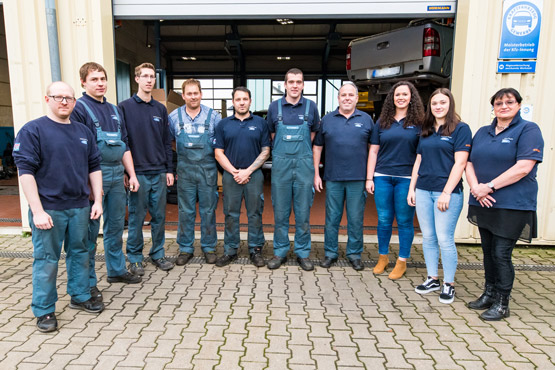 Das Team von Autohaus Fuchs in Böhmenkirch